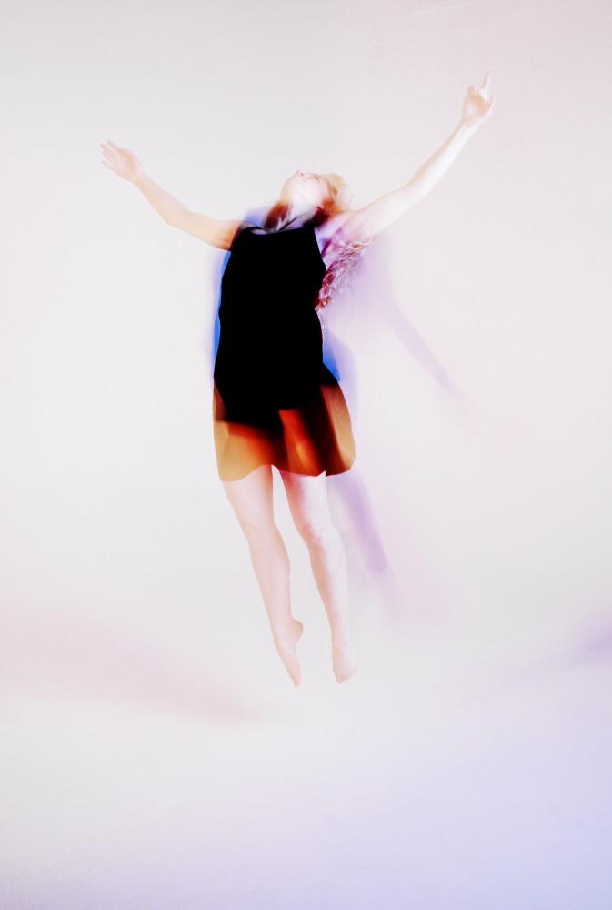 Artistic impression of dancer jumping