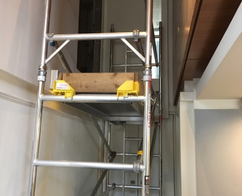 Scaffolding in the cafe